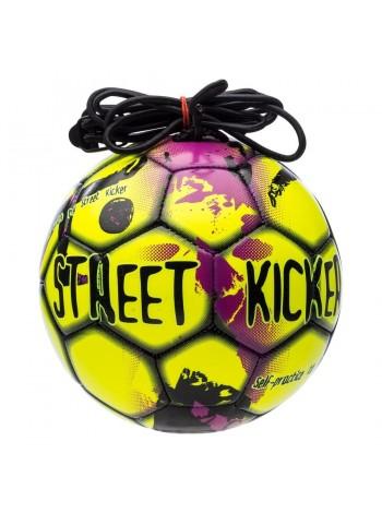 купить Мяч футбольный SELECT Street Kicker (014) желт/черн, размер 4