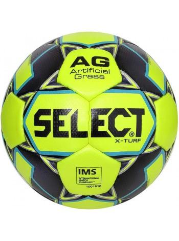 купить Мяч футбольный SELECT X-Turf IMS (010), желт/серый р.5
