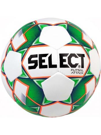 купить Мяч футзальный Select Futsal Attack NEW (046) бел/зел/grain