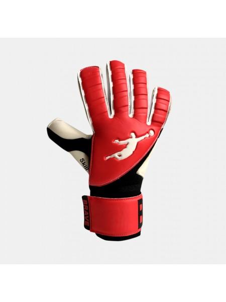 Перчатки вратарские BRAVE GK SKILL RED/BLACK