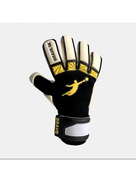 Перчатки вратарские BRAVE GK UNIQUE 2.0 YELLOW/BLACK