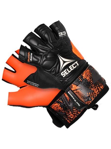 Перчатки вратарские Select 33 Futsal Liga (201) черн/оранж