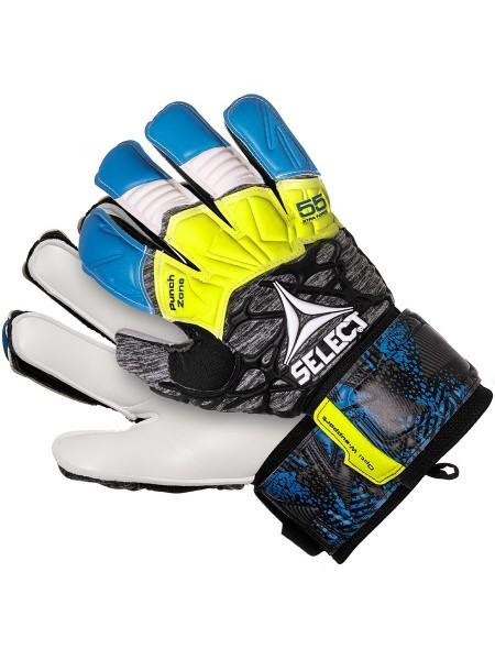 Перчатки вратарские SELECT 55 Extra Force Grip (335), син/сер/желт