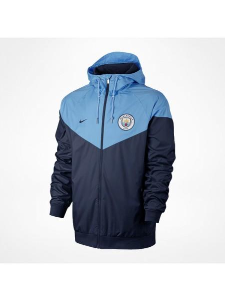 Ветровка Манчестер Сити голубая
