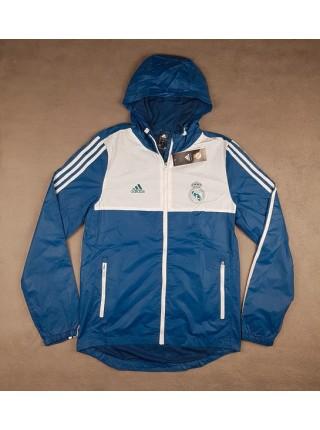 Ветровка Реал Мадрид бело-синяя
