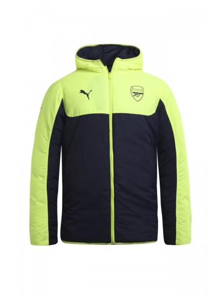 Зимняя куртка Арсенал сине-салатовая