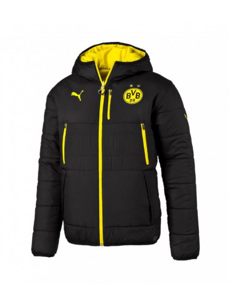 Зимняя куртка Боруссия Д черно-желтая
